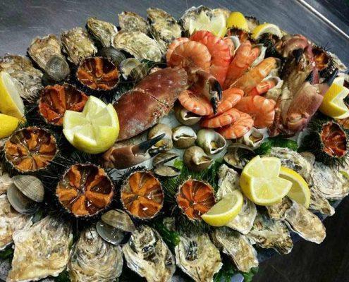 Un exemple de plateau de fruits de mer